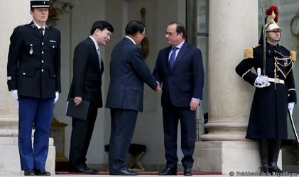 Visite officielle du premier ministre hun sen paris la for Chambre de commerce cambodge
